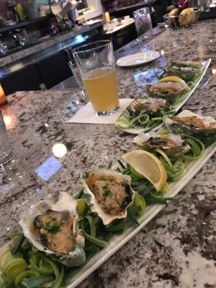 House Broiled Oysters at Taylor Shellfish Oyster Bar in Seattle, WA