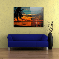 Acrylic Wall Art, Glossy Lobby Display, Contemporary