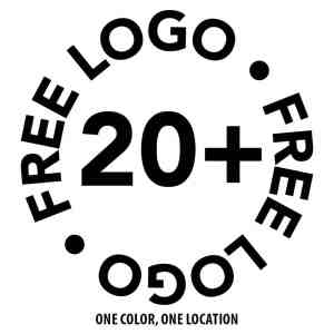 buy 20, get your logo printed for FREE