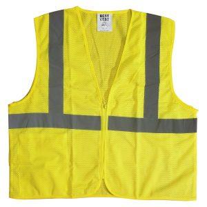 ansi class 2 hi-vis safety traffic vest with zipper