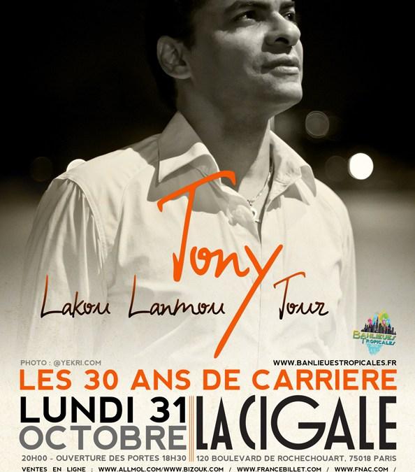 Tony Chasseur fête ses 30 ans de carrière à la Cigale