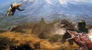 Tohos mange monstre mødes i Destroy All Monsters (1968).