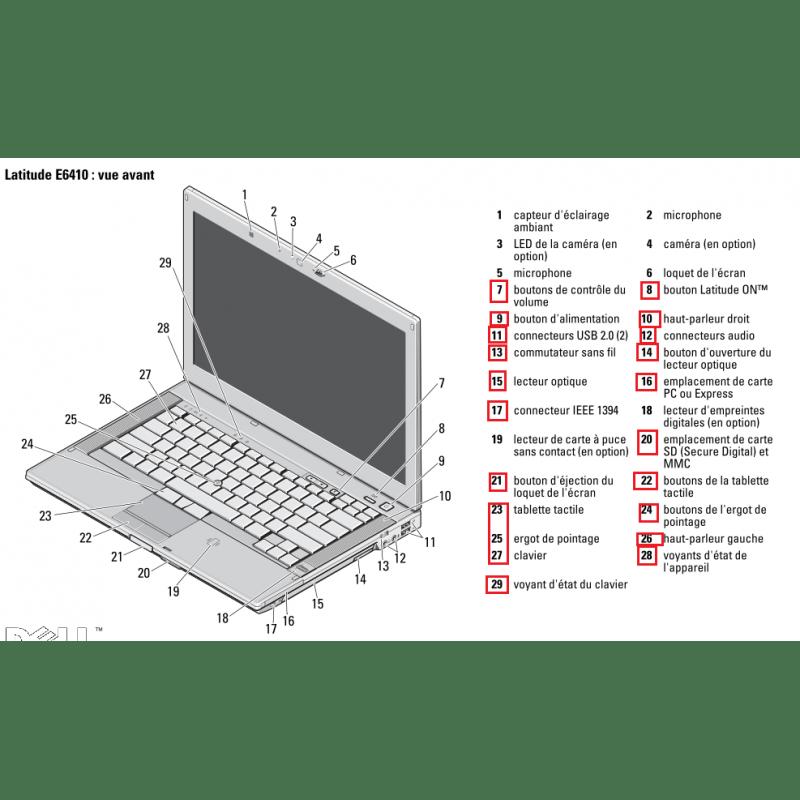 PC portable Dell Latitude E6410 Core i7