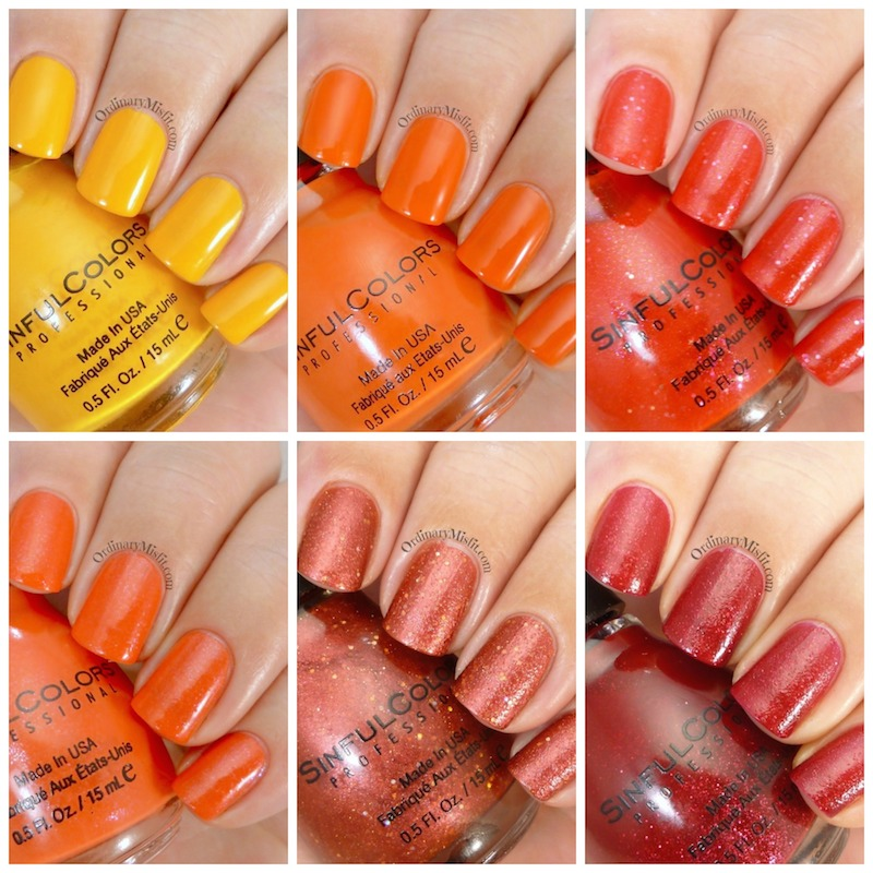 Sinful Colors - Simmer down collection
