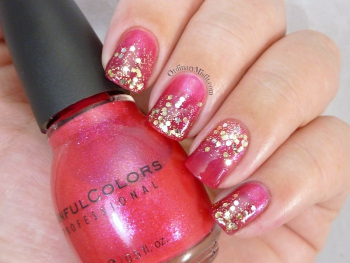 Pink and Gold glitter gradient 3