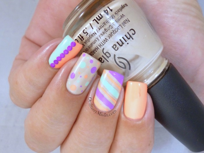 Nail Anarchy January challenge - Summer skittle 2