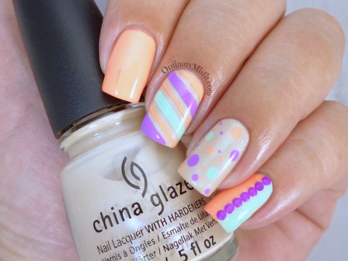 Nail Anarchy January challenge - Summer skittle