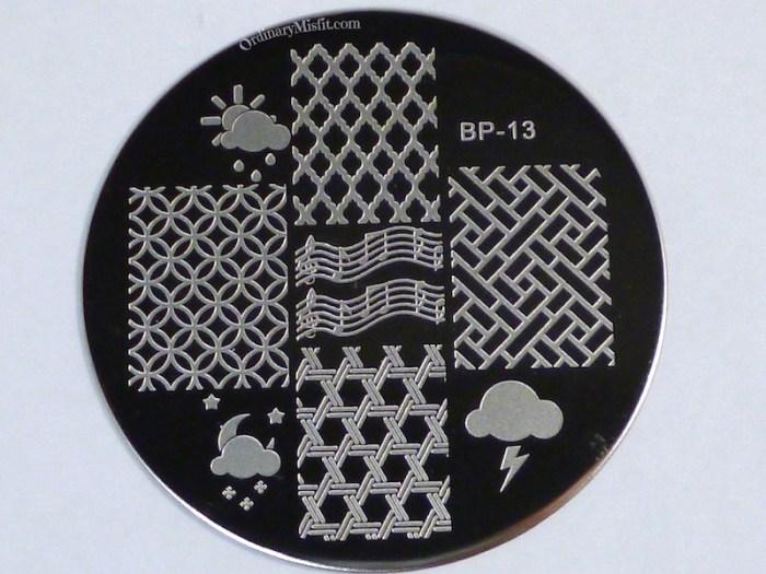 Born Pretty Store plate BP-13
