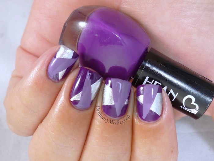 Hean I love Hean collection #805 with nail art 2