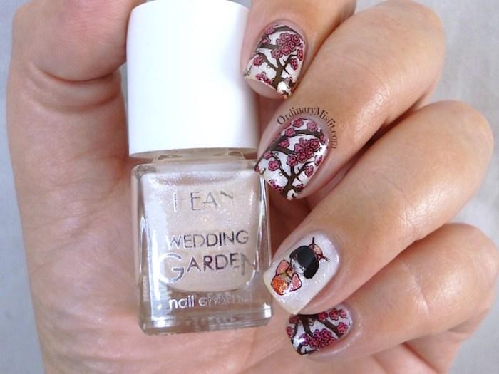 Hean Wedding Garden collection #637 with nail art
