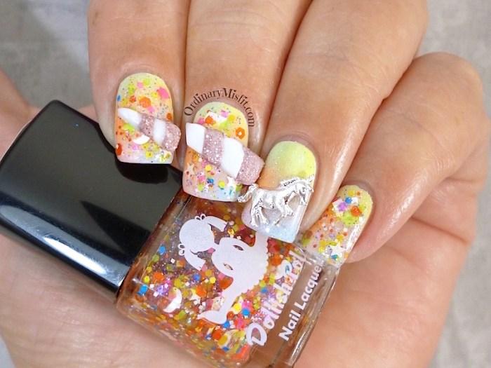 #PPSANailChallenge Unicorn nail art 2