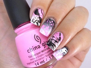 #PPSANailChallenge Pink nail art