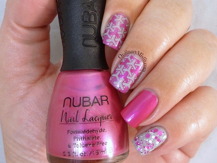 Pink & grey skittlette