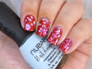 Water spotted twinsie nail art