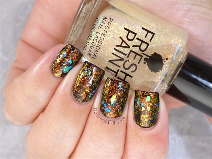 Dragon egg nail art