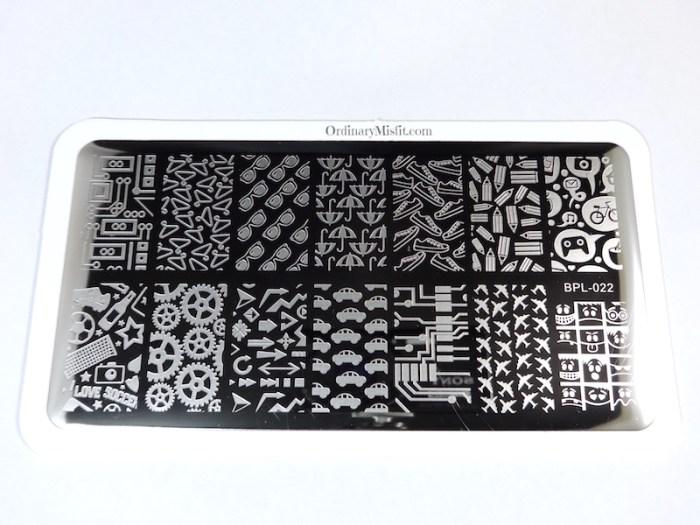 BornPrettyStore stamping plate BPL-022
