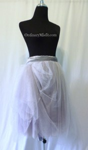 Silver : grey adult tutu front pinned