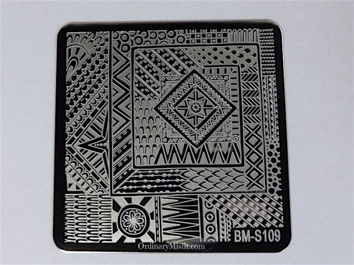 Bundle Monster Shangri la stamping plates BM-S109