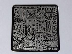 Bundle Monster Shangri la stamping plates BM-S110