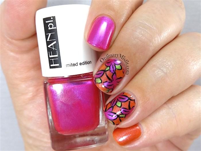 Hean Jungle pop nail art