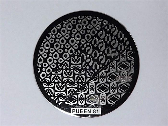 Pueen Buffet leisure stamping plates pueen81