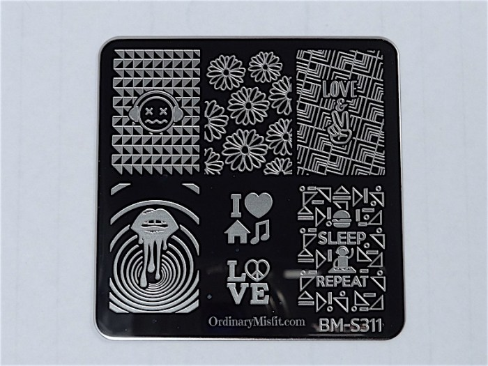 Bundle Monster Musik City stamping plates  BM-S311