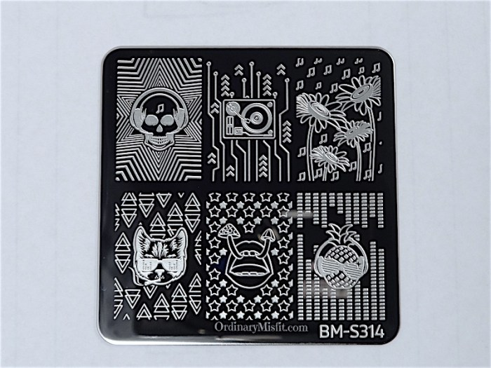 Bundle Monster Musik City stamping plates  BM-S314
