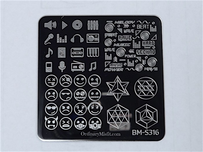 Bundle Monster Musik City stamping plates  BM-S316