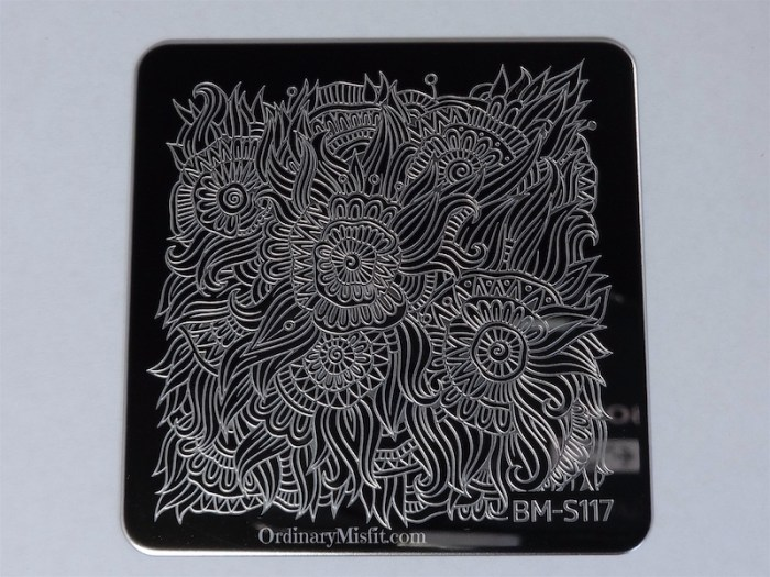 Bundle Monster Paisly Flow stamping plates BM-S117