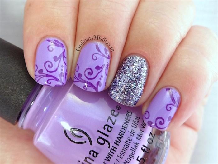 NAILLinkup Aug Lady like nail art