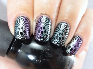 31DC2016 Day 8 - Metallic nails