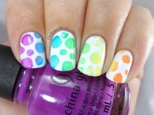 31DC2016 Day 9 - Rainbow nails