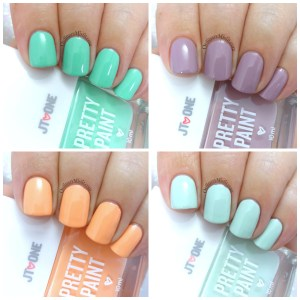 JT One - Pretty Paint nail polish collage