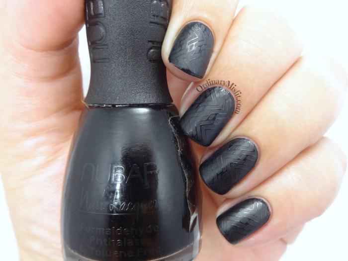 52 week nail art challenge - black nail art