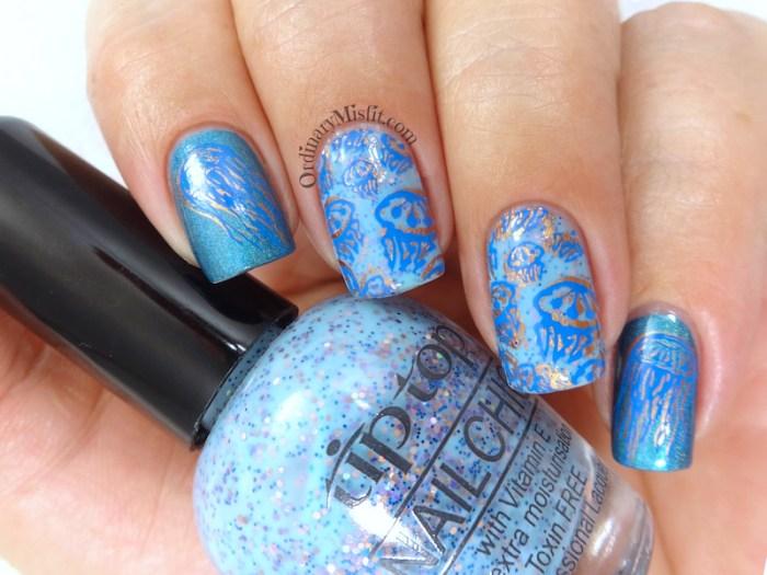 52 week nail art challenge - ocean nail art