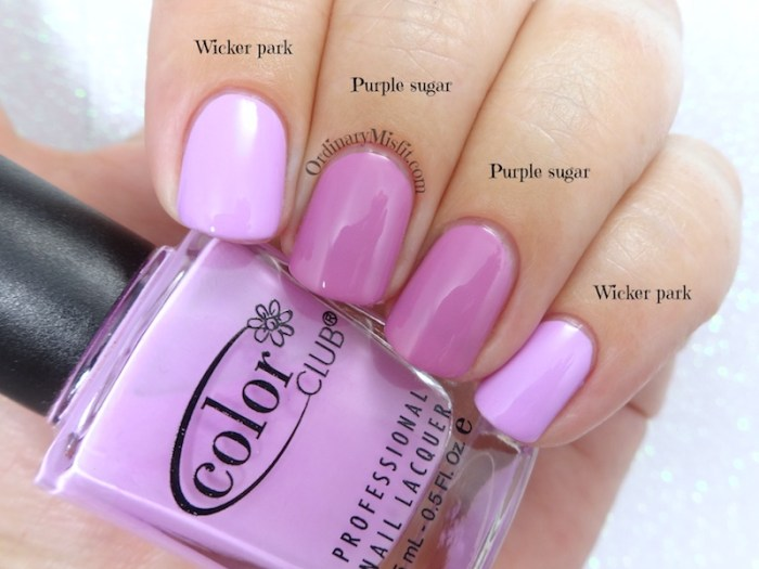 Comparison - Color club - Wicker park vs Essence - Purple sugar