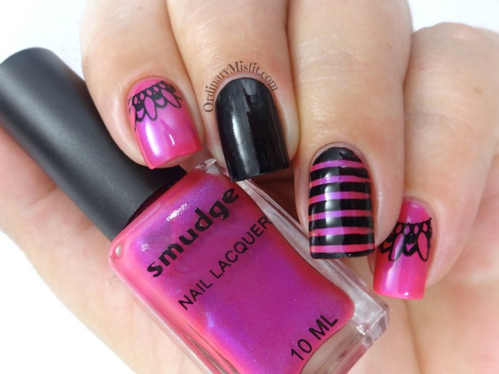 Pink and black skittlette