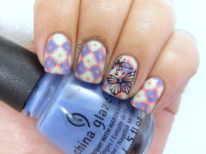 Squared nail art