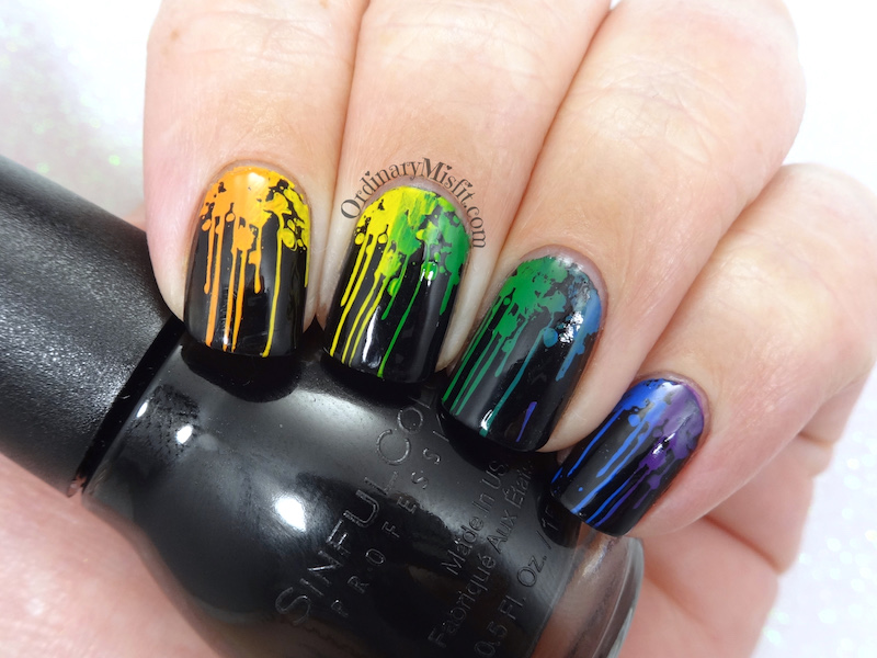 52 week nail art challenge - Week 26: Rainbow