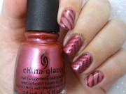 berry stripes nail art ordinarymisfit
