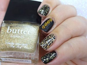 Week 27 of 52weeknailchallenge by polishportfolio is all about gold