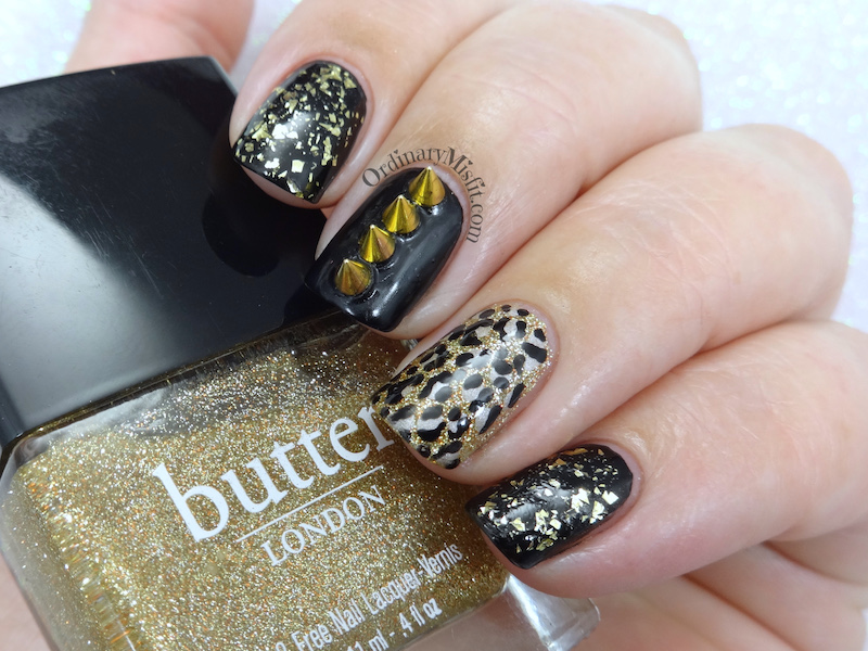52 week nail art challenge - Week 27: Gold