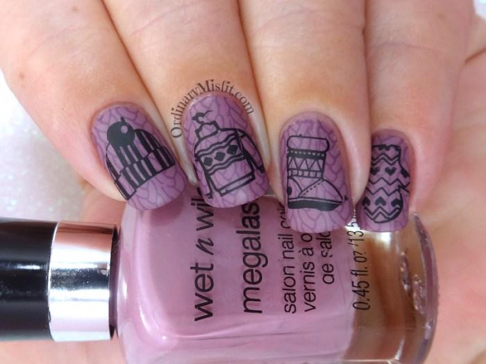 52 week nail art challenge - Winter nail art