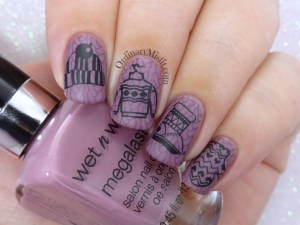 52 week nail art challenge - Winter nail art