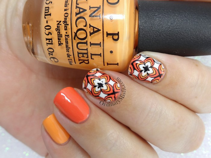 52 week nail art challenge - Orange
