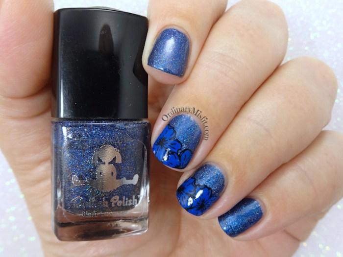 Blue on blue nail art