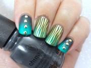 wavy gradients nail art ordinarymisfit