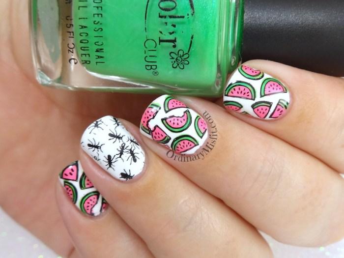 Summer picnic nail art