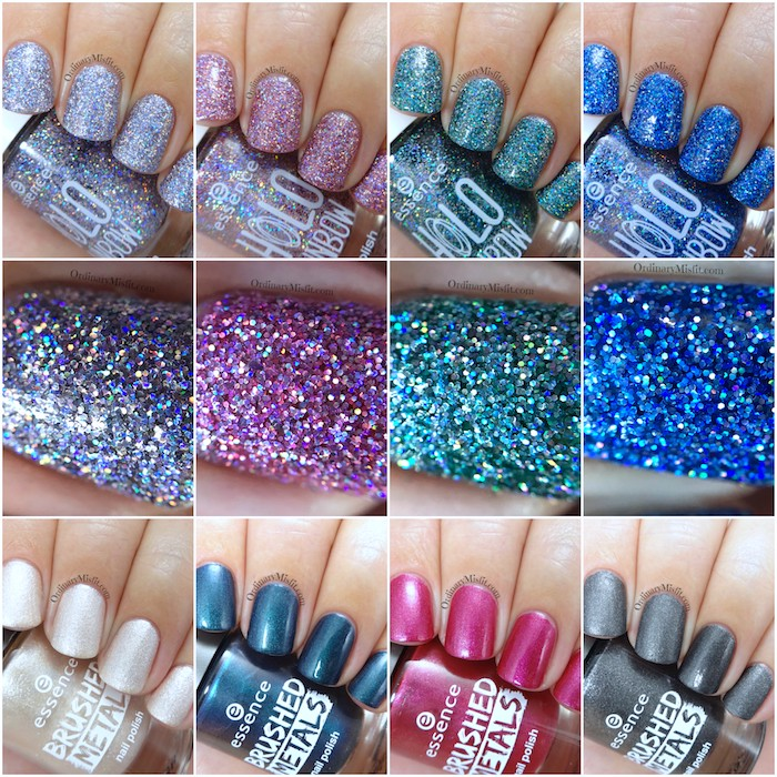 Essence Range Update 2017 - The Brushed Metals & the Holo Rainbows