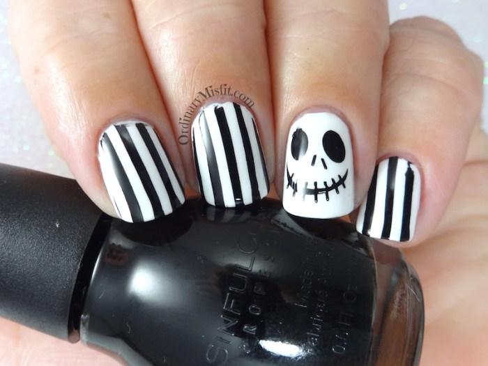 Jack skellington nail art